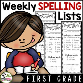 Journeys 1st Grade Weekly Spelling Lists aligned with HMH Journeys
