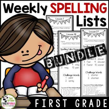 Grade 1 Regular & Challenge Spelling Lists Aligned with Journeys 2011-2017