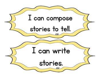 Grade 1 I Can Statements - English Language Arts