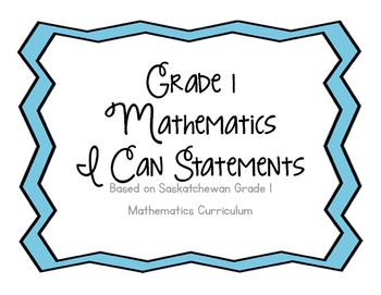 Grade 1 I Can Statements - Mathematics