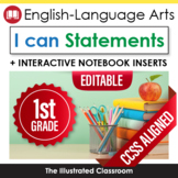 Common Core Standards I Can Statements for 1st Grade ELA -