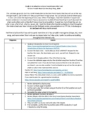 Grade 1 Introduction into Core French Basics Outline and Assessment