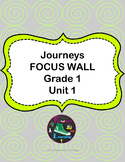 Grade 1 Journeys Focus Wall Posters and student reference sheets