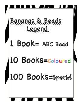 Grade 1 Jungle Themed Home Reading Program, Book Beads, Reading Rewards