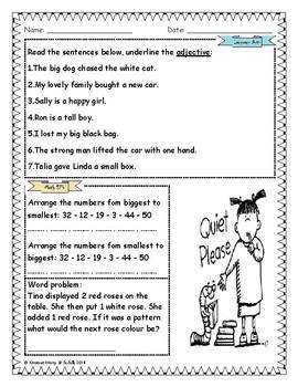 Grade 1 L.A & Math Practice Part 2