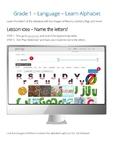Grade 1 – Language – Learn Alphabet
