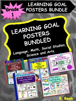 Grade 1 Learning Goal Posters - BUNDLED