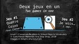 Grade 1 Level 1 Core French Classroom Routines & Objects: Deux jeu en un (Games)