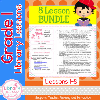 Grade 1 Library Lessons - Bundle of 8
