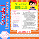 Gr. 1: 8 Lessons (Book Care & Selection, Concept Books, Ch