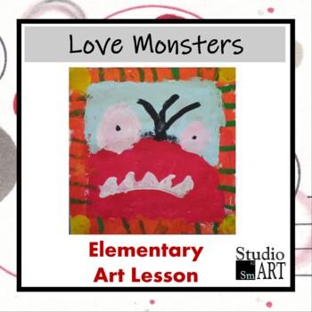 Grade 1 Love Monster Painting Lesson