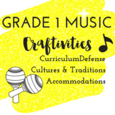 Grade 1 *MUSIC* Craft Activities