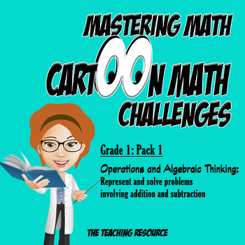 Grade 1: Mastering Math Cartoon Video Challenges: Word Problems