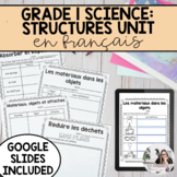 Grade 1: French Materials, Objects and Everyday Structures