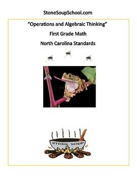 First Grade Math: NC Standards Algebra Geometry Base 10 Measure Data