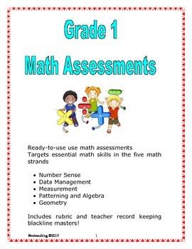 Grade 1 Math Assessments