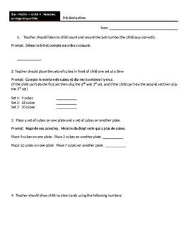Grade 1 - Math - Assessments Bundle - 6 Units - [FRENCH]