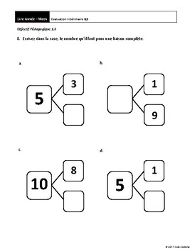 Grade 1 Math - Assessments [FRENCH]