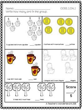 Grade 1 Math Assessments-OA