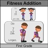 Grade 1 Math Center: Fitness Addition: 1st Grade Math Addi
