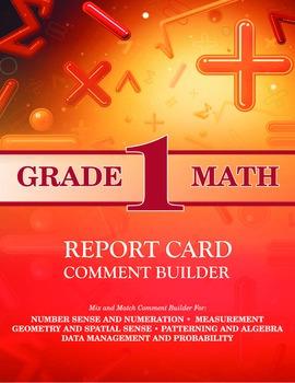 Grade 1 Math Comment Builder
