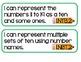 Grade 1 Math Common Core I Can Statements