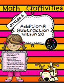 1st Grade Math Craftivities Addition and Subtraction within 20