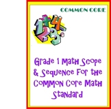 Grade 1 Math Curriculum for the Common Core Math Standards