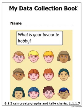 Grade 1 - Math - Data Collection Booklet - Graphs, Tally Charts, Etc.
