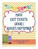 Grade 1 Math Exit Slips - A Growing Bundle