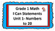 Grade 1 Math I Can Posters
