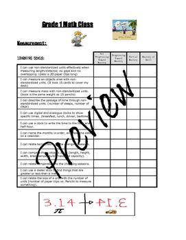 Grade 1 Math Learning Goals