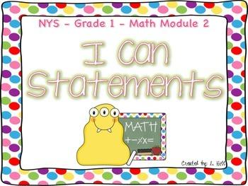 Grade 1 Math Module 2 I Can Statements
