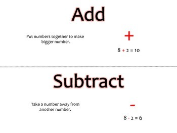 Grade 1 Math Module 2 Vocabulary Cards