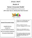 Grade 1, Math Module 4 REVIEW & ASSESSMENT (PDFs, Microsof
