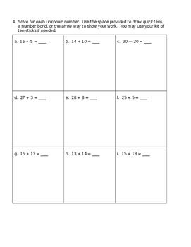 Grade 1 Math Module 4 Review 1