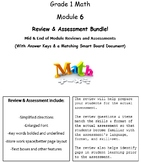Grade 1, Math Module 6 REVIEW & ASSESSMENT w/Ans keys (printables & Smart Board)