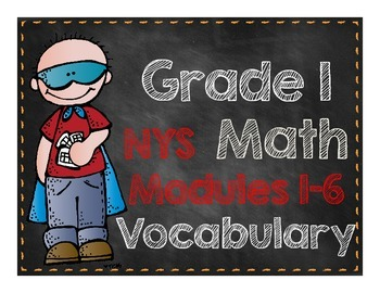 Grade 1 Math Modules Vocabulary Cards