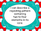 Grade 1 Math Pattern strand I Can Statements Manitoba  Aligned