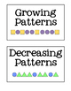 Grade 1 Math: Patterning Unit - Ontario Curriculum