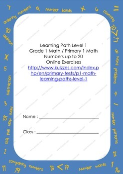 Grade 1 Math / Primary 1 Math Worksheets Numbers up to 20