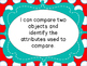 Grade 1 Math Shape and Space Strand  I Can Posters Manitoba Aligned
