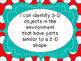 Grade 1 Math Shape and Space Strand  I Can Posters Manitob