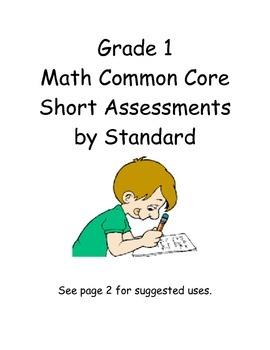 Grade 1 Math Short Assessments by Standard