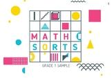 Grade 1 Math Sort Sample