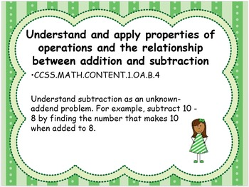 Grade 1 Math Standards