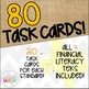 Grade 1 Math TEKS Aligned Task Cards: All FINANCIAL LITERACY TEKS Bundle!