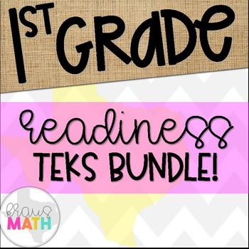 Grade 1 Math TEKS Aligned Task Cards: All READINESS TEKS Bundle!