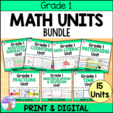 Grade 1 Math Units FULL YEAR Bundle (Based on the Ontario