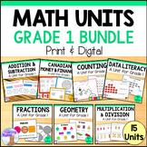 Grade 1 Math Units FULL YEAR Bundle (Based on the Ontario Curriculum)